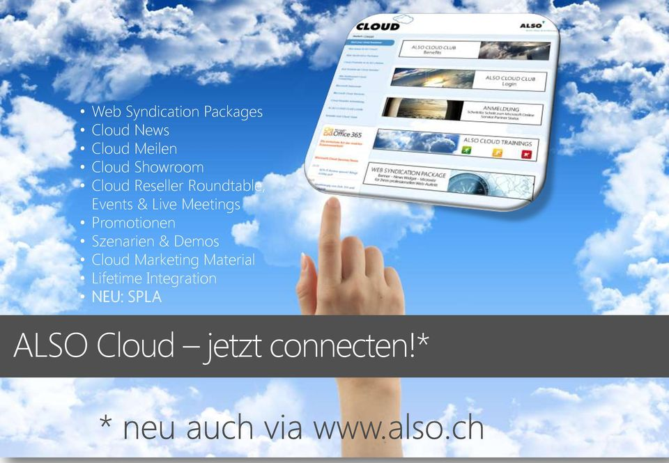 Meetings Promotionen Szenarien & Demos Cloud Marketing