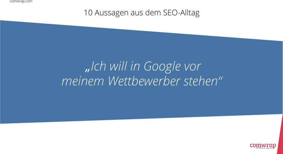 in Google vor
