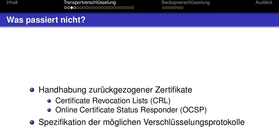 Certificate Revocation Lists (CRL) Online