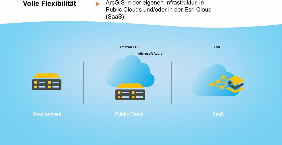 in der Esri Cloud (SaaS) Amazon EC2 Esri
