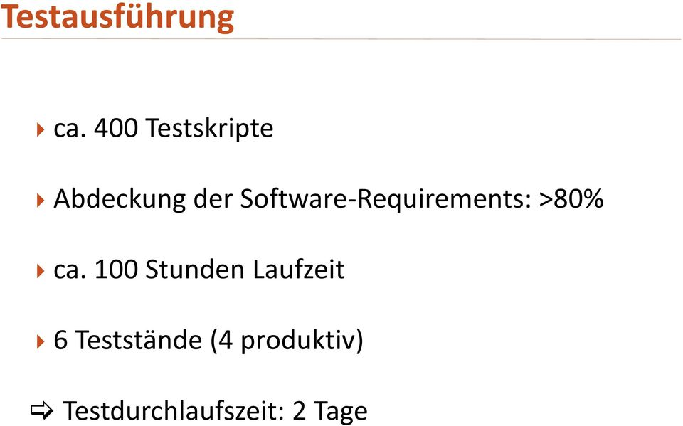 Software-Requirements: >80% ca.