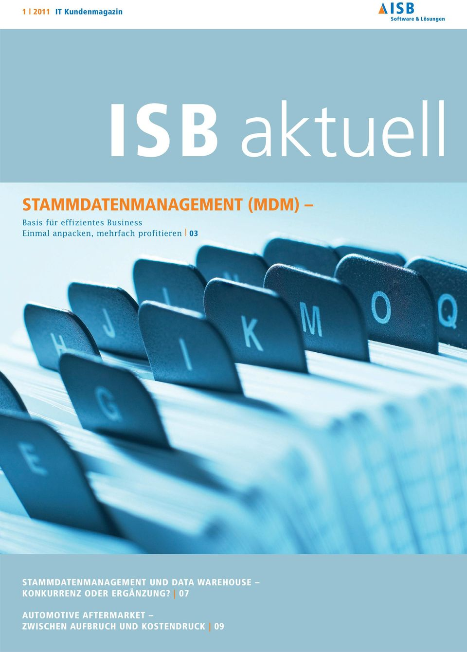 profitieren 03 STAMMDATENMANAGEMENT UND DATA WAREHOUSE KONKURRENZ