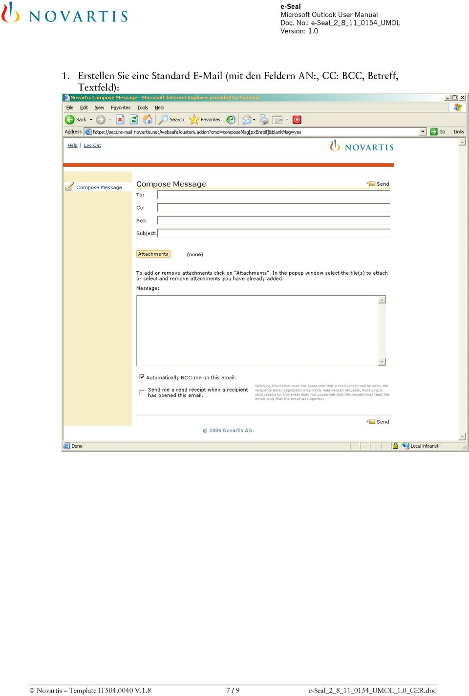 Textfeld): Novartis Template IT504.0040 V.