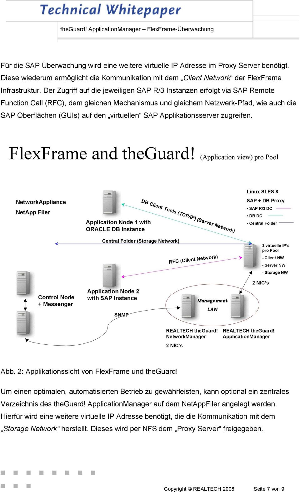 virtuellen SAP Applikationsserver zugreifen. FlexFrame and theguard!