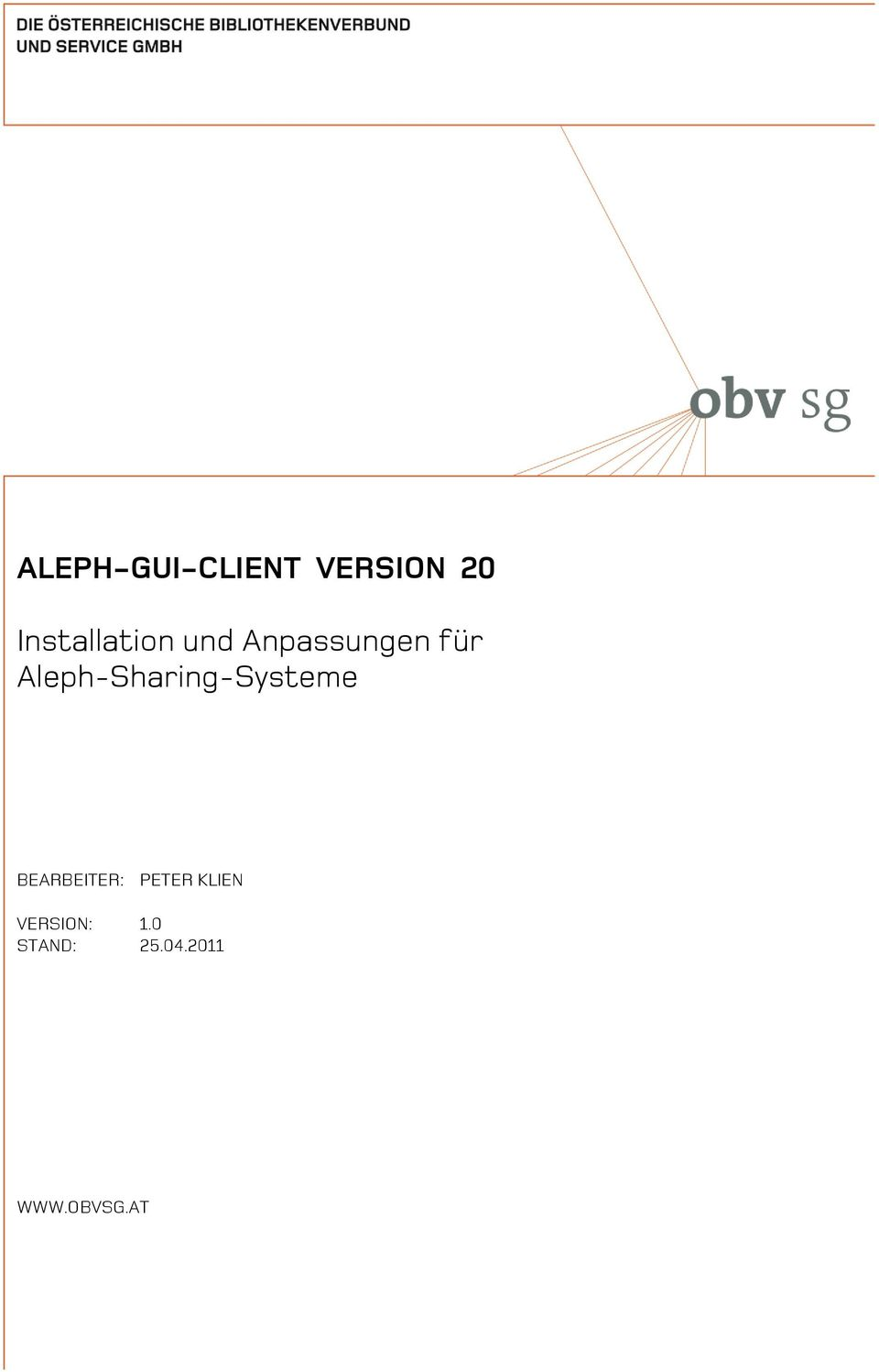 Aleph-Sharing-Systeme BEARBEITER: