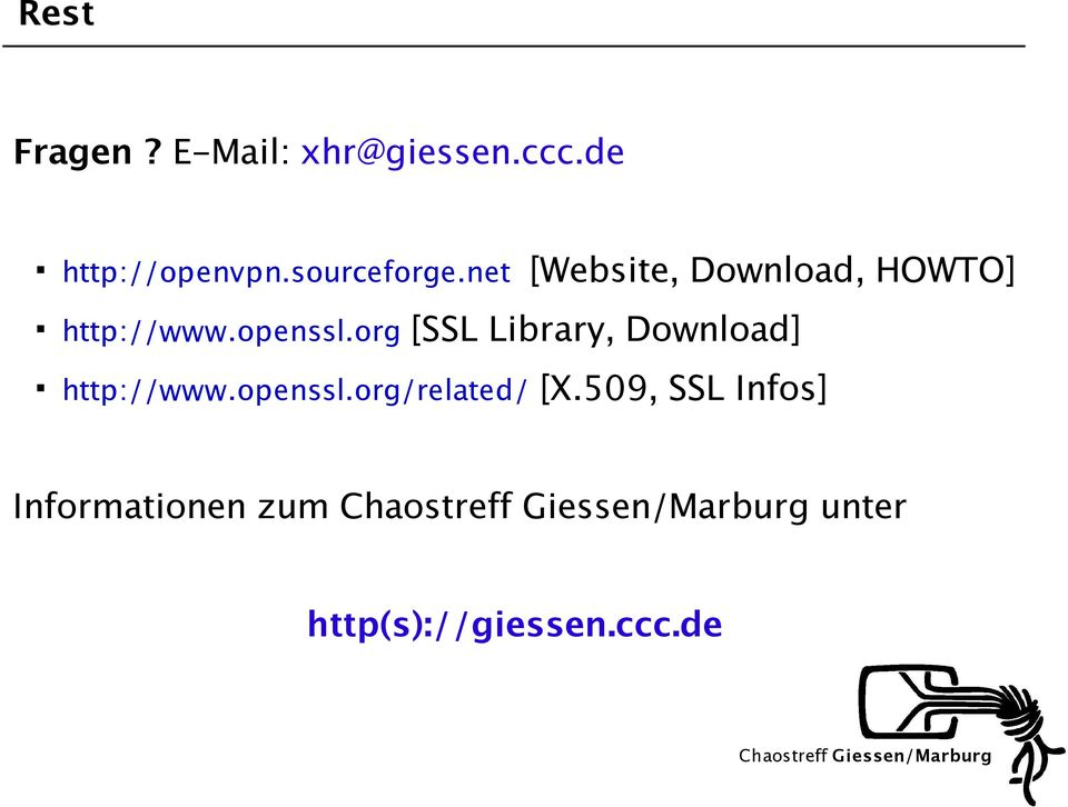 openssl.org [SSL Library, Download] http://www.openssl.org/related/ [X.
