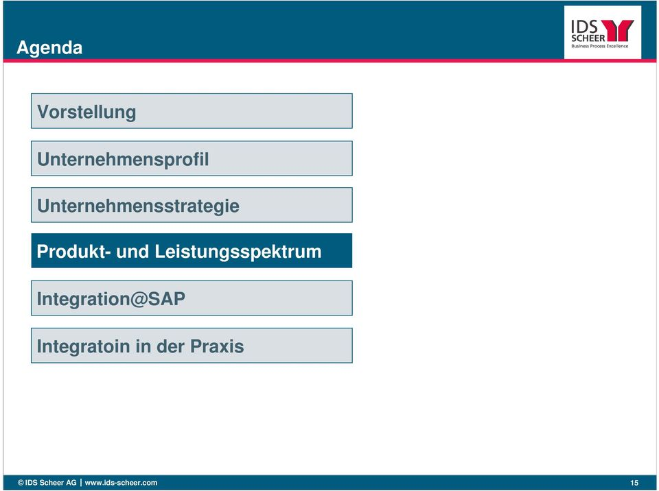 Leistungsspektrum Integration@SAP
