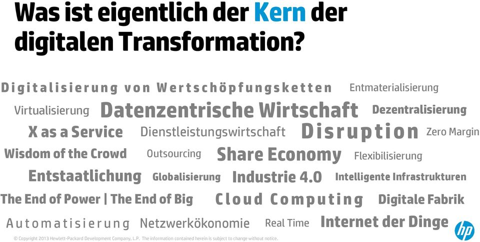 Wirtschaft Dienstleistungswirtschaft Disruption Outsourcing Globalisierung The End of Power The End of Big Automatisierung