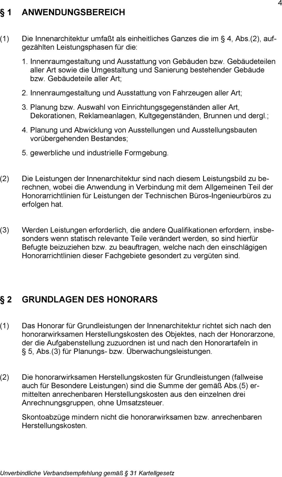 Innenarchitektur Qualifikationen hri leistungsbild innenarchitektur pdf