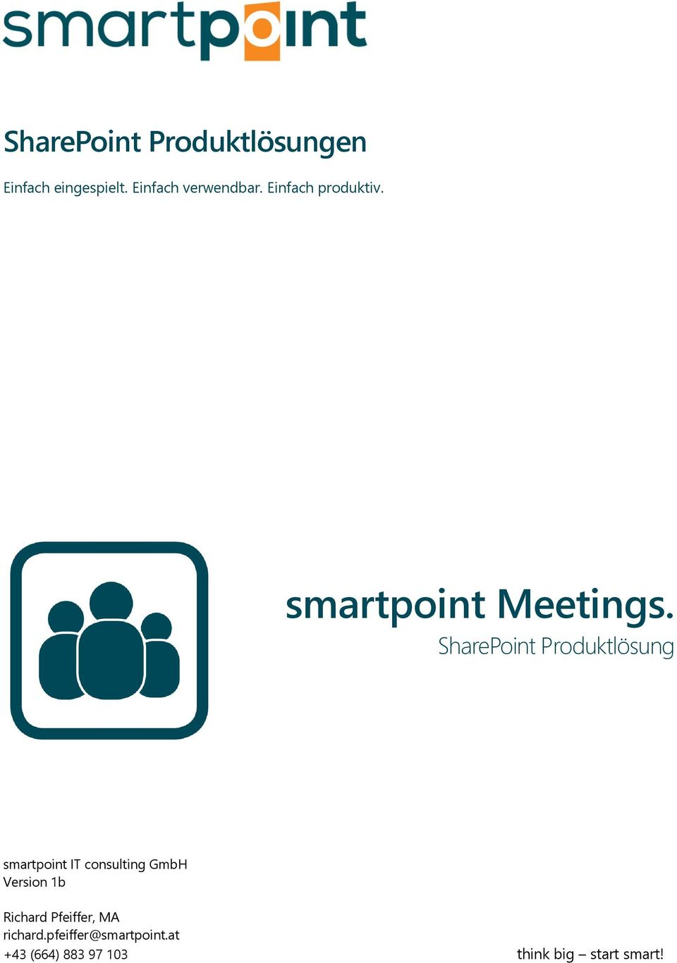 SharePoint Produktlösung smartpoint IT consulting GmbH Version 1b