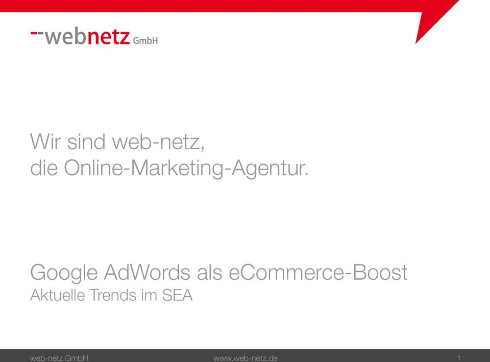 Google AdWords als ecommerce-boost