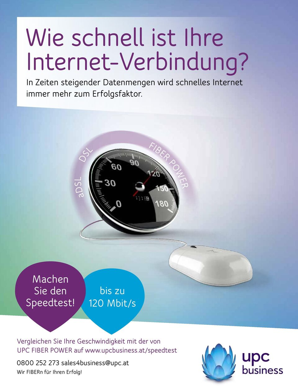 DSL FIBER POWER adsl Machen Sie den Speedtest!