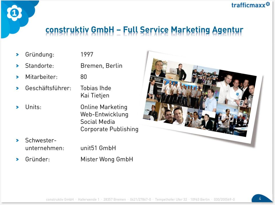 """ Units: Online Marketing Web-Entwicklung Social Media Corporate Publishing!"
