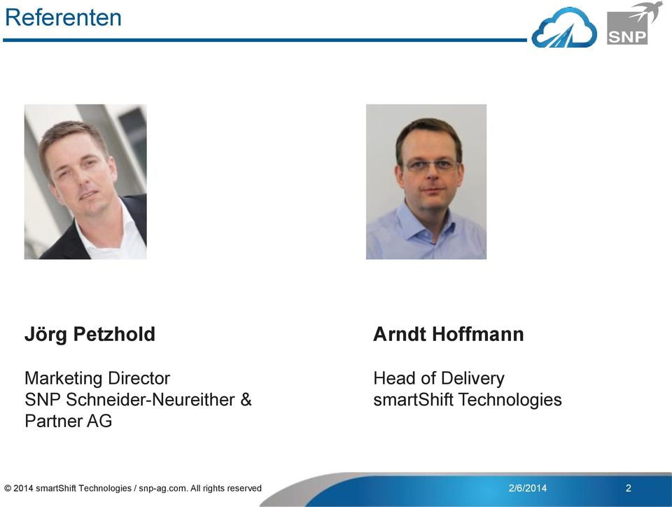 Head of Delivery smartshift Technologies 2014