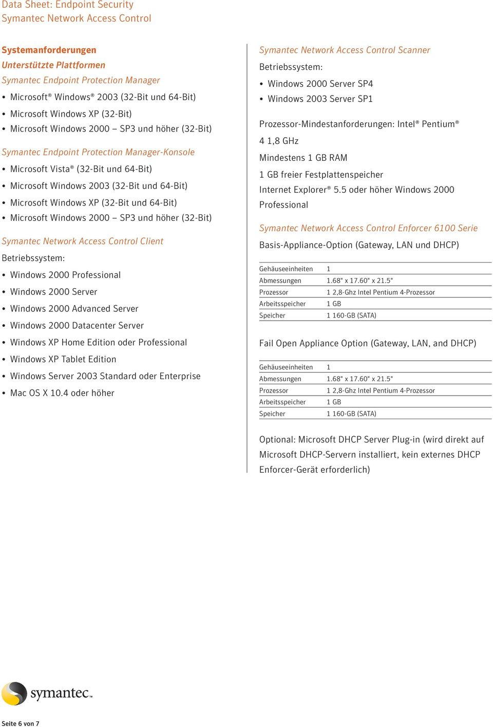 Microsoft Windows 2000 SP3 und höher (32-Bit) Client Betriebssystem: Windows 2000 Professional Windows 2000 Server Windows 2000 Advanced Server Windows 2000 Datacenter Server Windows P Home Edition