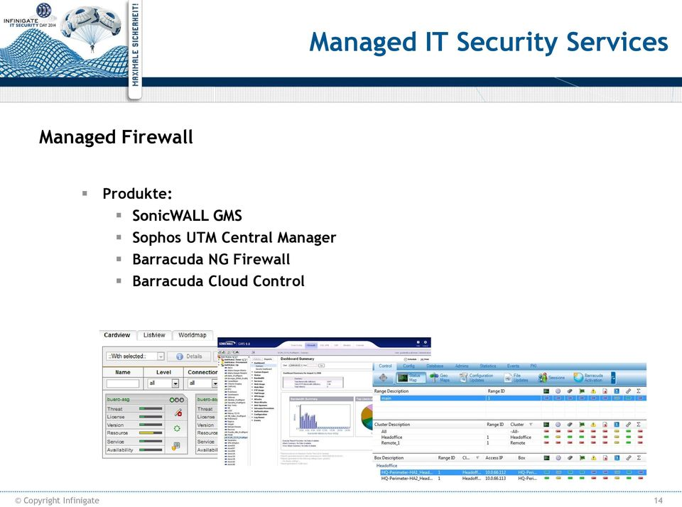 UTM Central Manager Barracuda NG Firewall