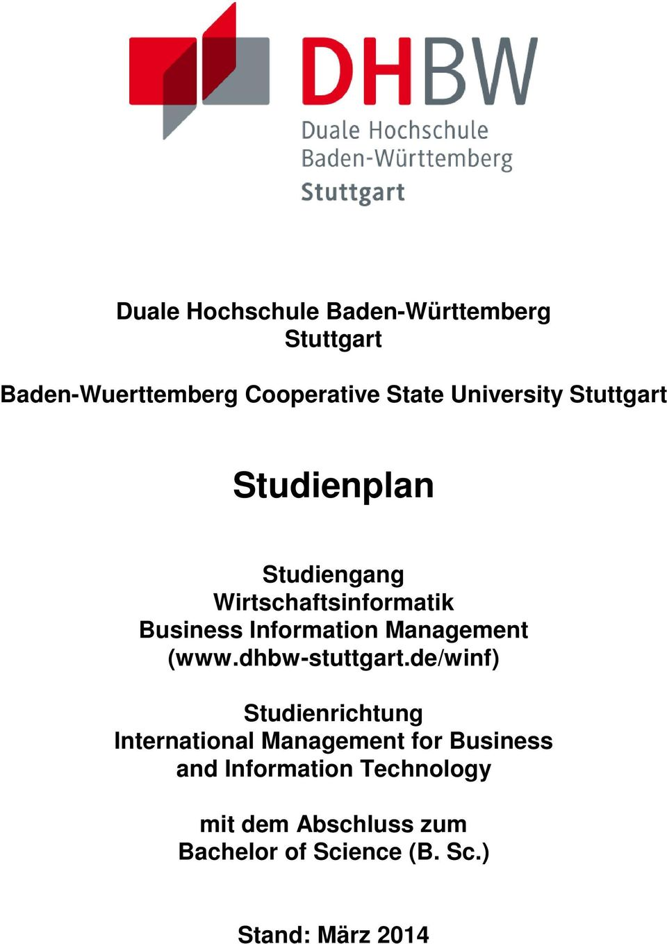 de/winf) Studienrichtung International Management for Business and
