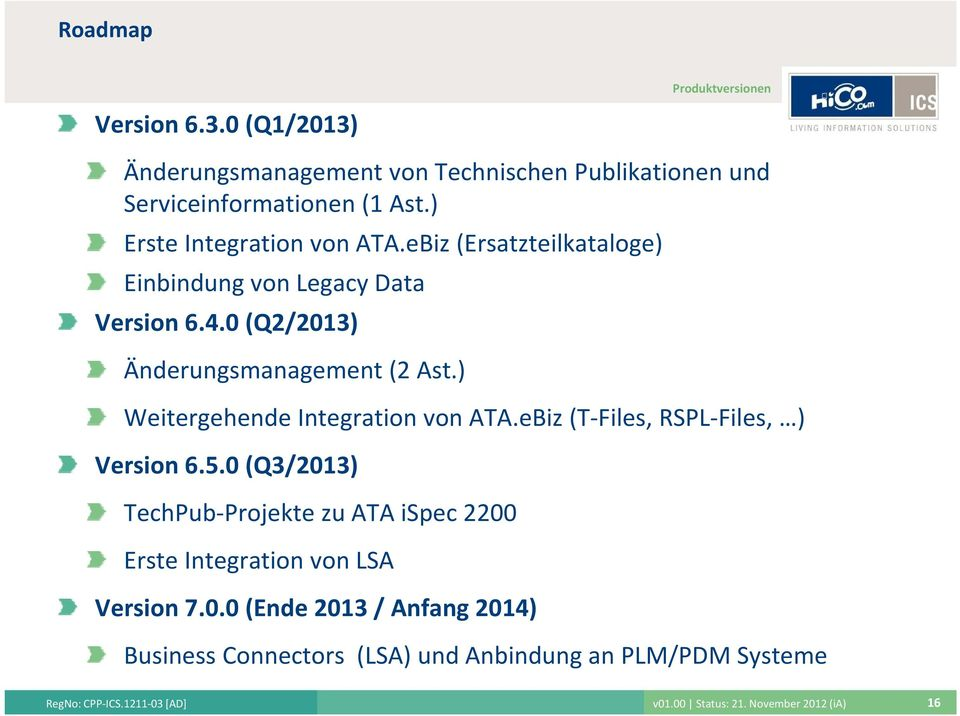 ) Weitergehende Integration von ATA.eBiz (T Files, RSPL Files, ) Version 6.5.