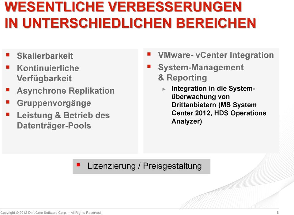 VMware- vcenter Integration System-Management & Reporting Integration in die Systemüberwachung