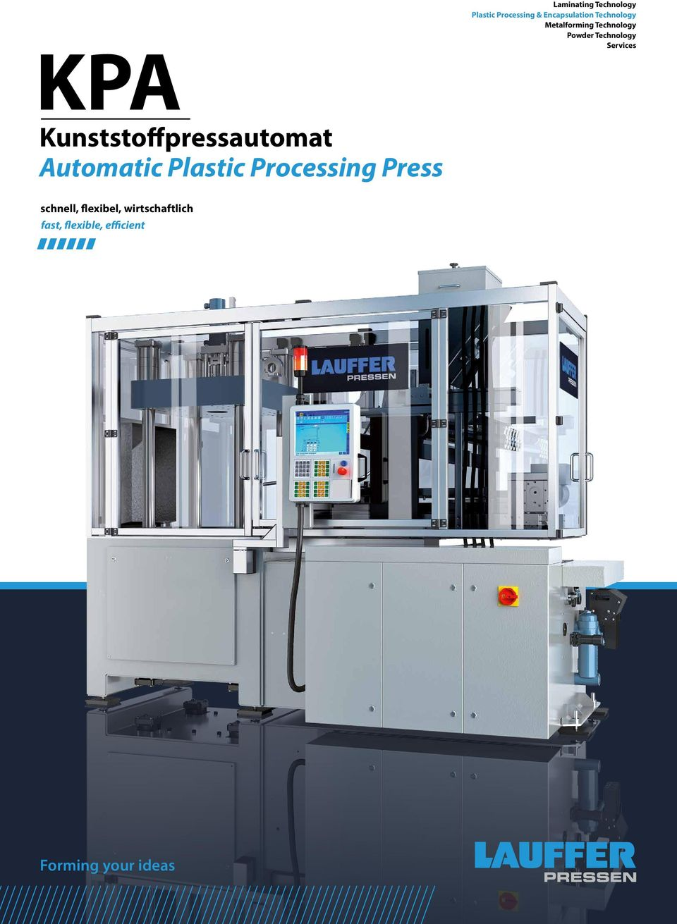 Kunststoffpressautomat Automatic Plastic Processing Press