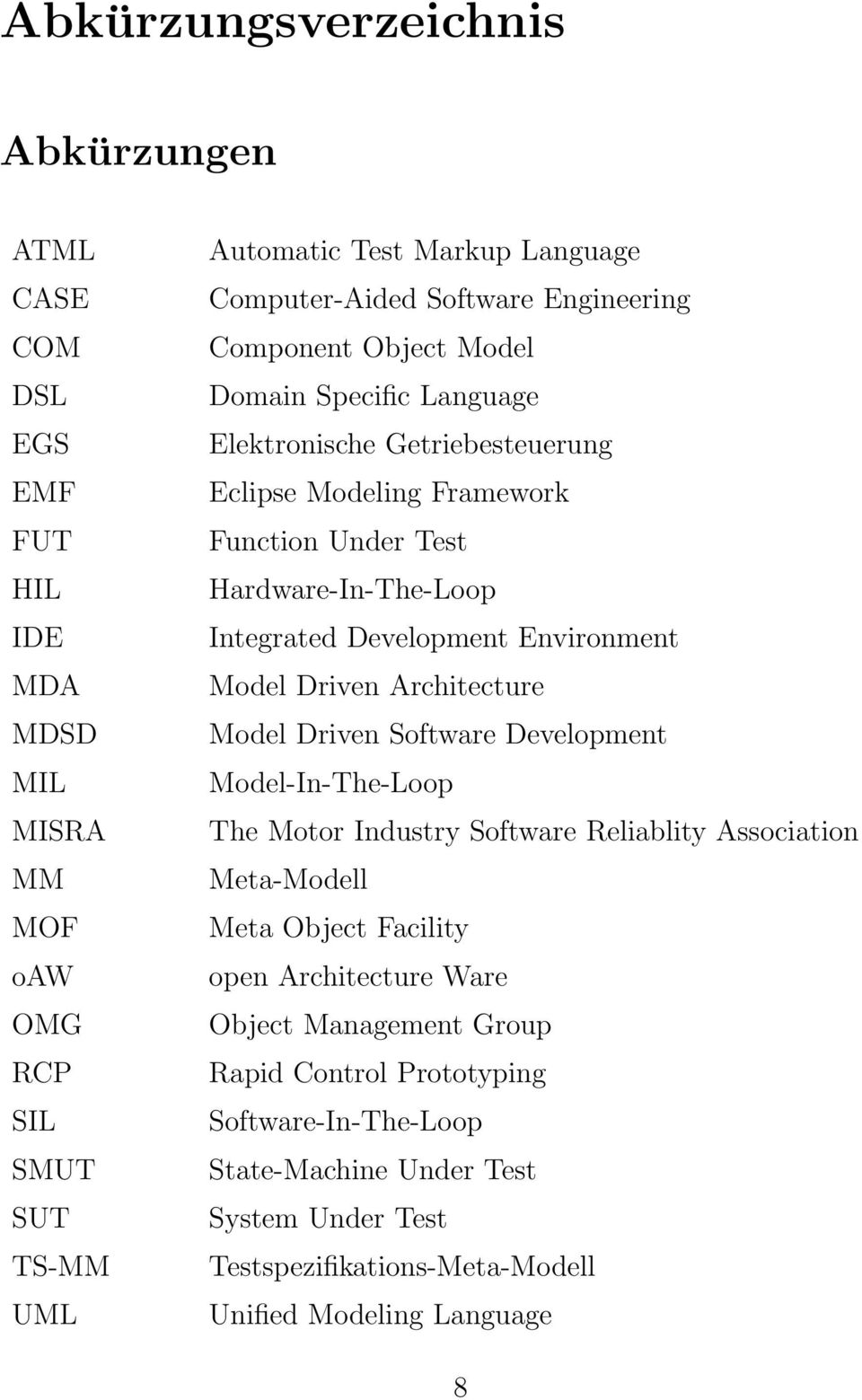 Development Environment Model Driven Architecture Model Driven Software Development Model-In-The-Loop The Motor Industry Software Reliablity Association Meta-Modell Meta Object