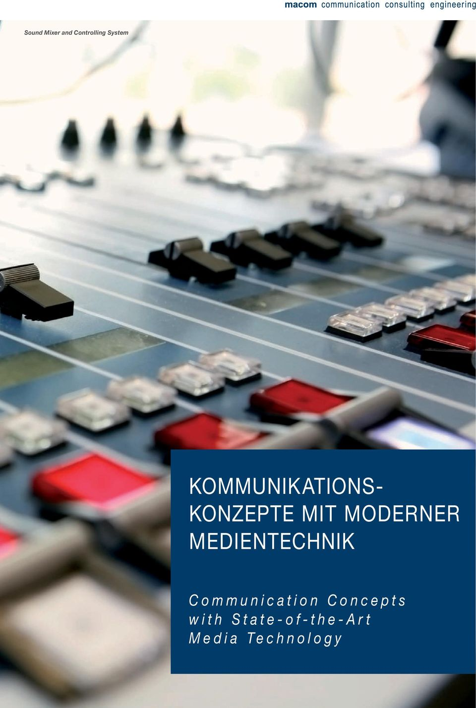 MODERNER MEDIENTECHNIK Communication