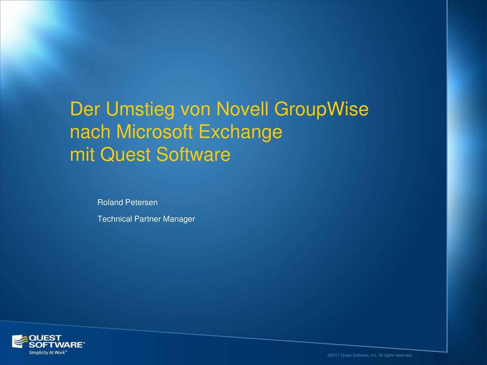 Exchange mit Quest Software