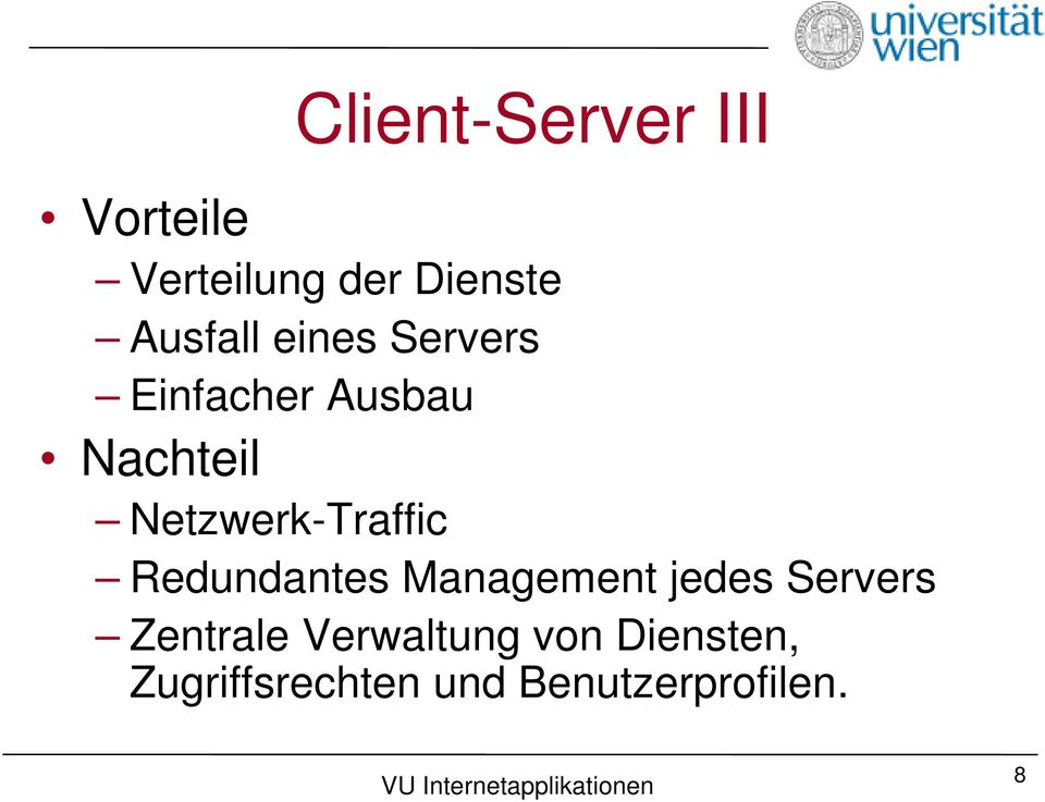 Netzwerk-Traffic Redundantes Management jedes Servers