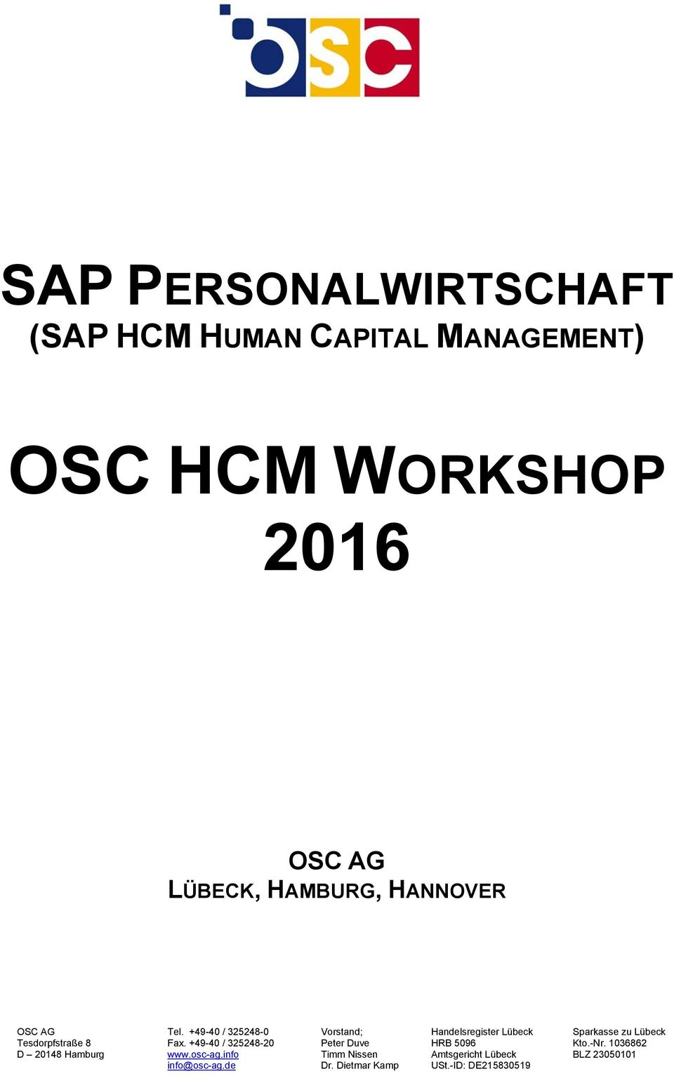 MANAGEMENT) OSC HCM