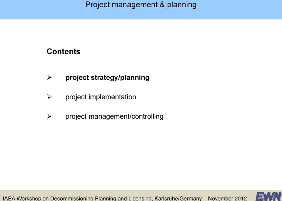 strategy/planning project