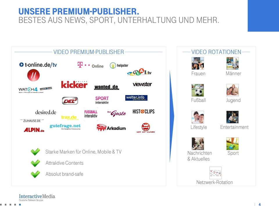 Lifestyle Entertainment Starke Marken für Online, Mobile & TV Attraktive