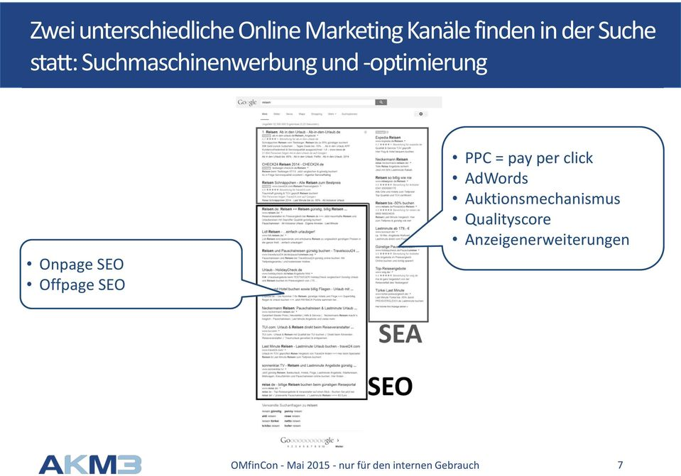 -optimierung Onpage SEO Offpage SEO PPC = pay per