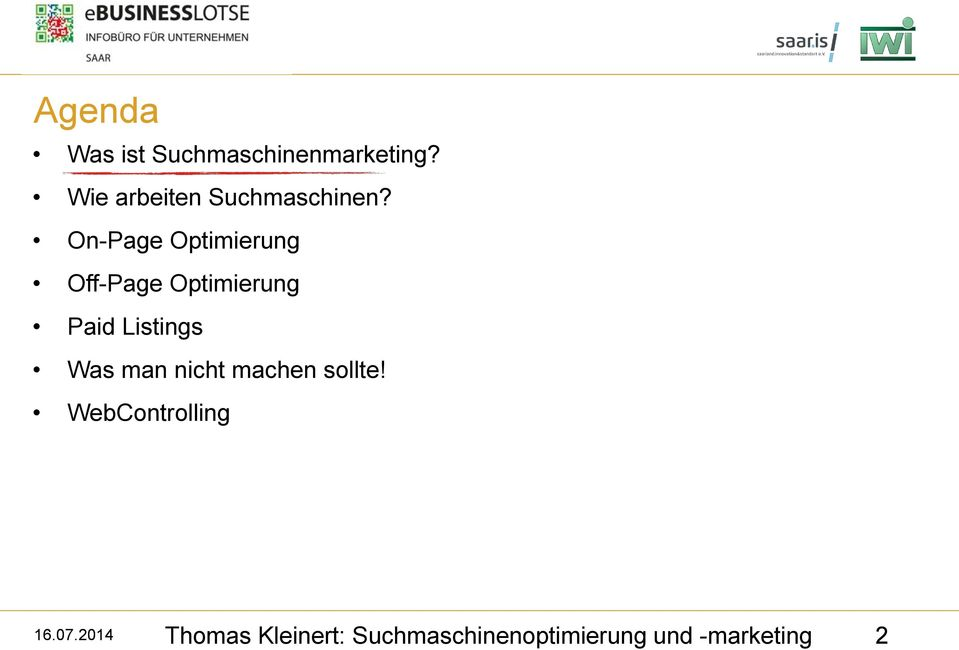 On-Page Optimierung Off-Page Optimierung Paid Listings Was