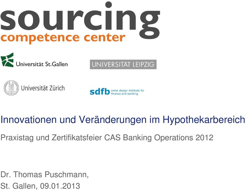 Banking Operations 2012