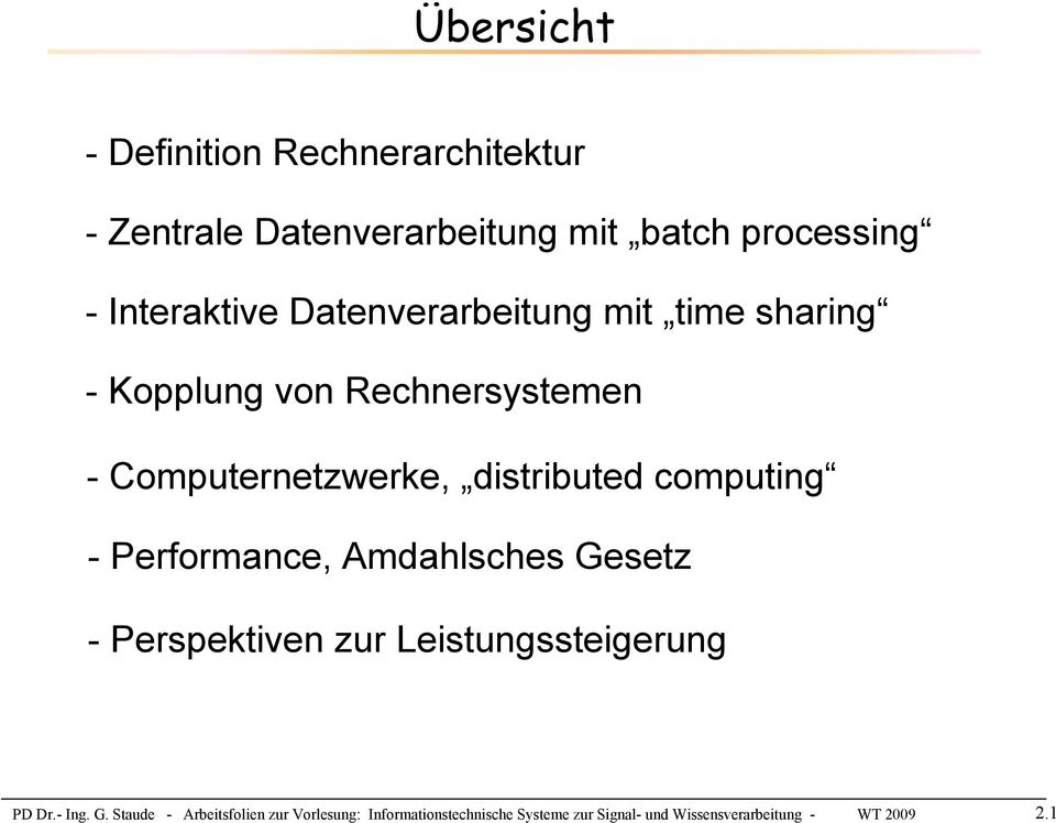 computing - Performance, Amdahlsches Ge