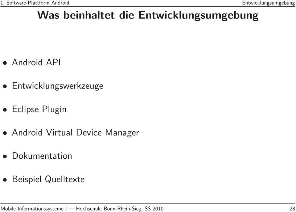 Plugin Android Virtual Device Manager Dokumentation Beispiel