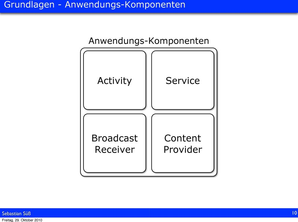 Activity Service Broadcast