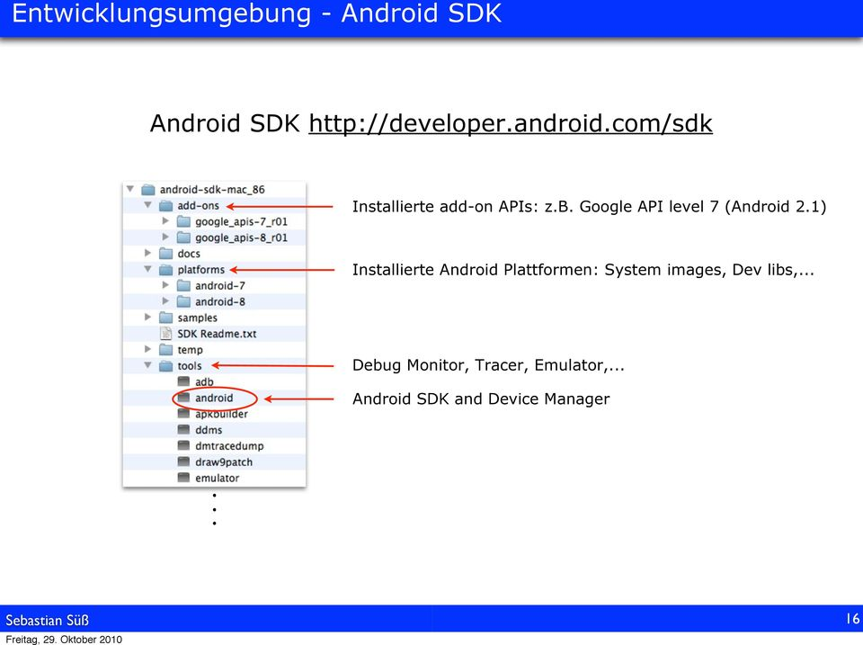 Google API level 7 (Android 2.