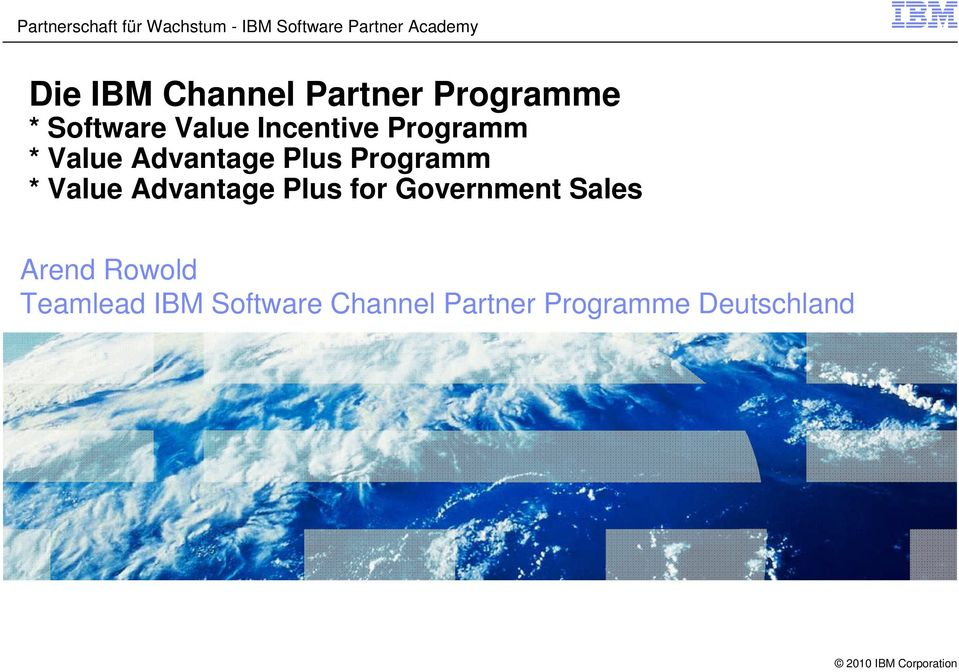 Value Advantage Plus Programm * Value Advantage Plus for Government