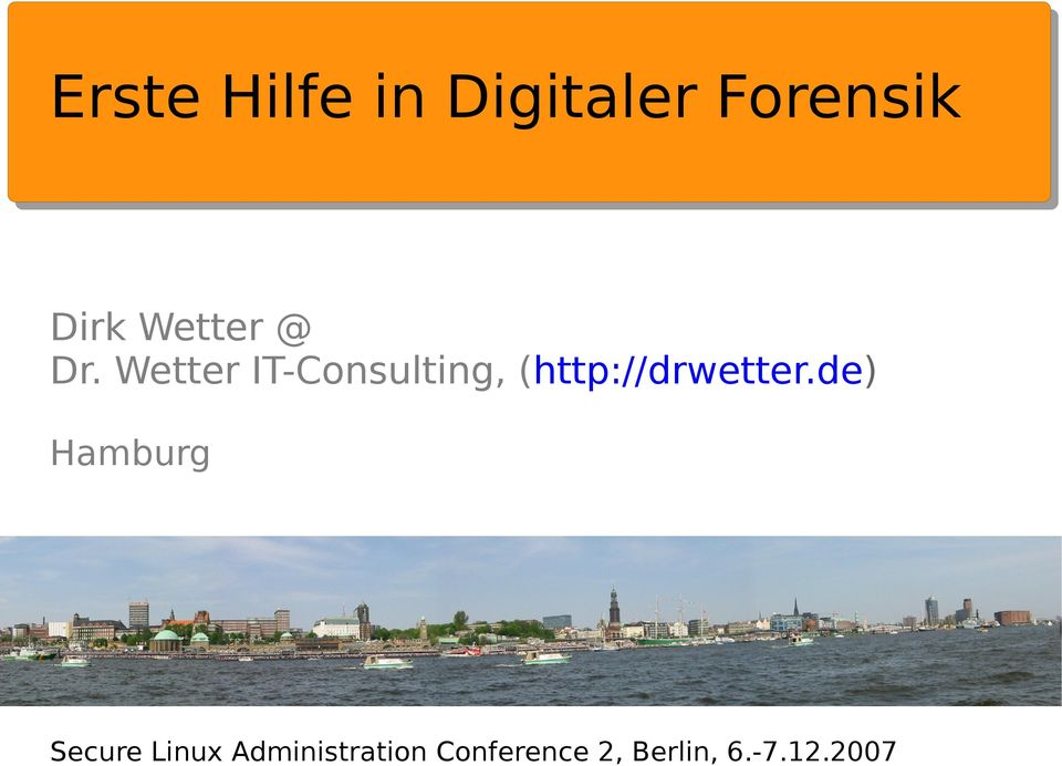 Wetter IT-Consulting, (http://drwetter.