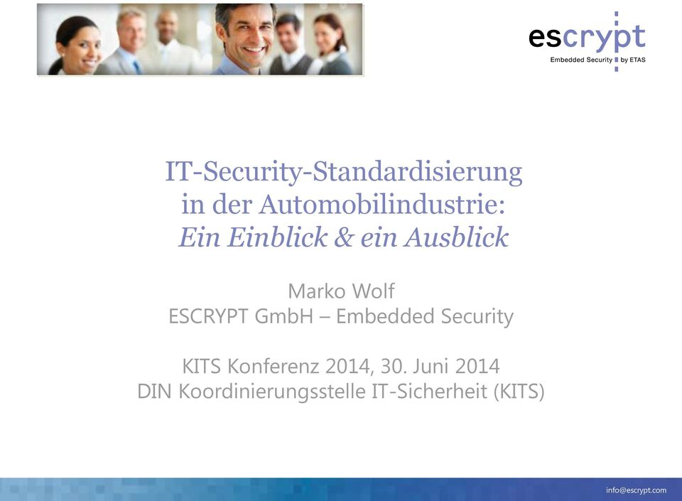 Marko Wolf ESCRYPT GmbH Embedded Security KITS