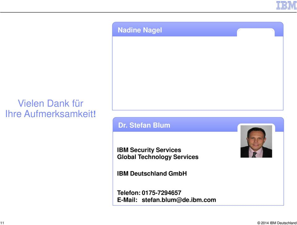Stefan Blum IBM Security Services Global