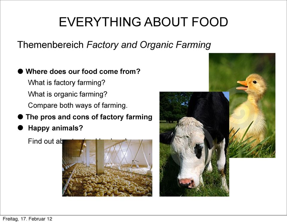 What is organic farming? Compare both ways of farming.