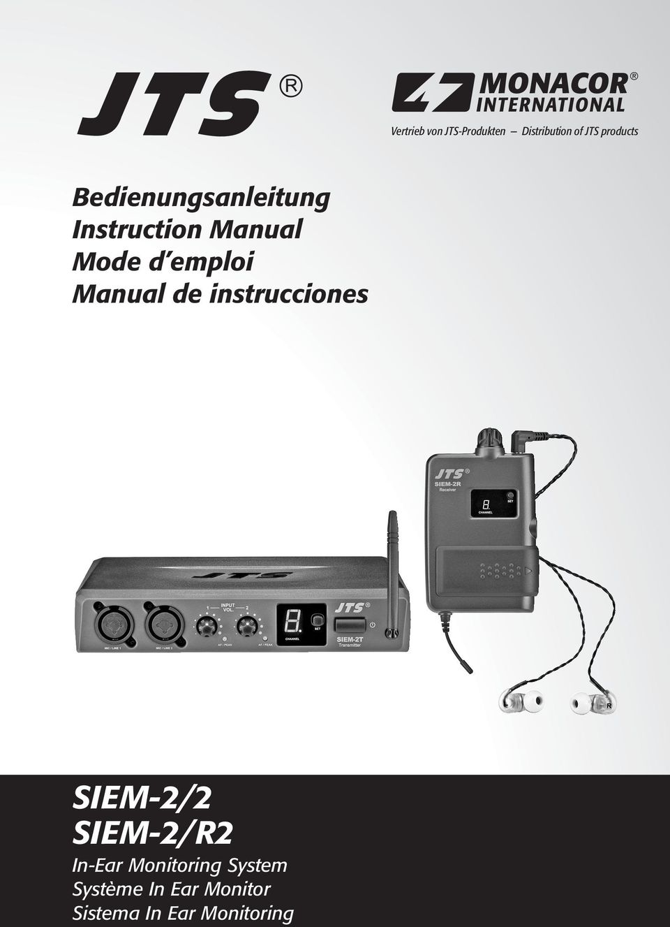 Manual de instrucciones SIEM-2/2 SIEM-2/R2 In-Ear