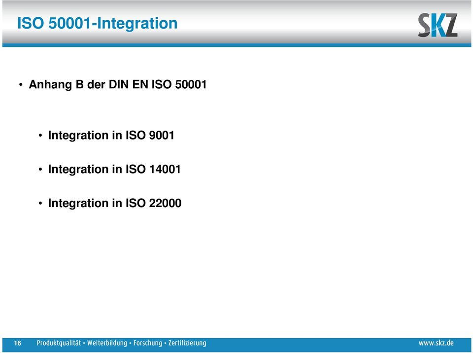 Integration in ISO 9001