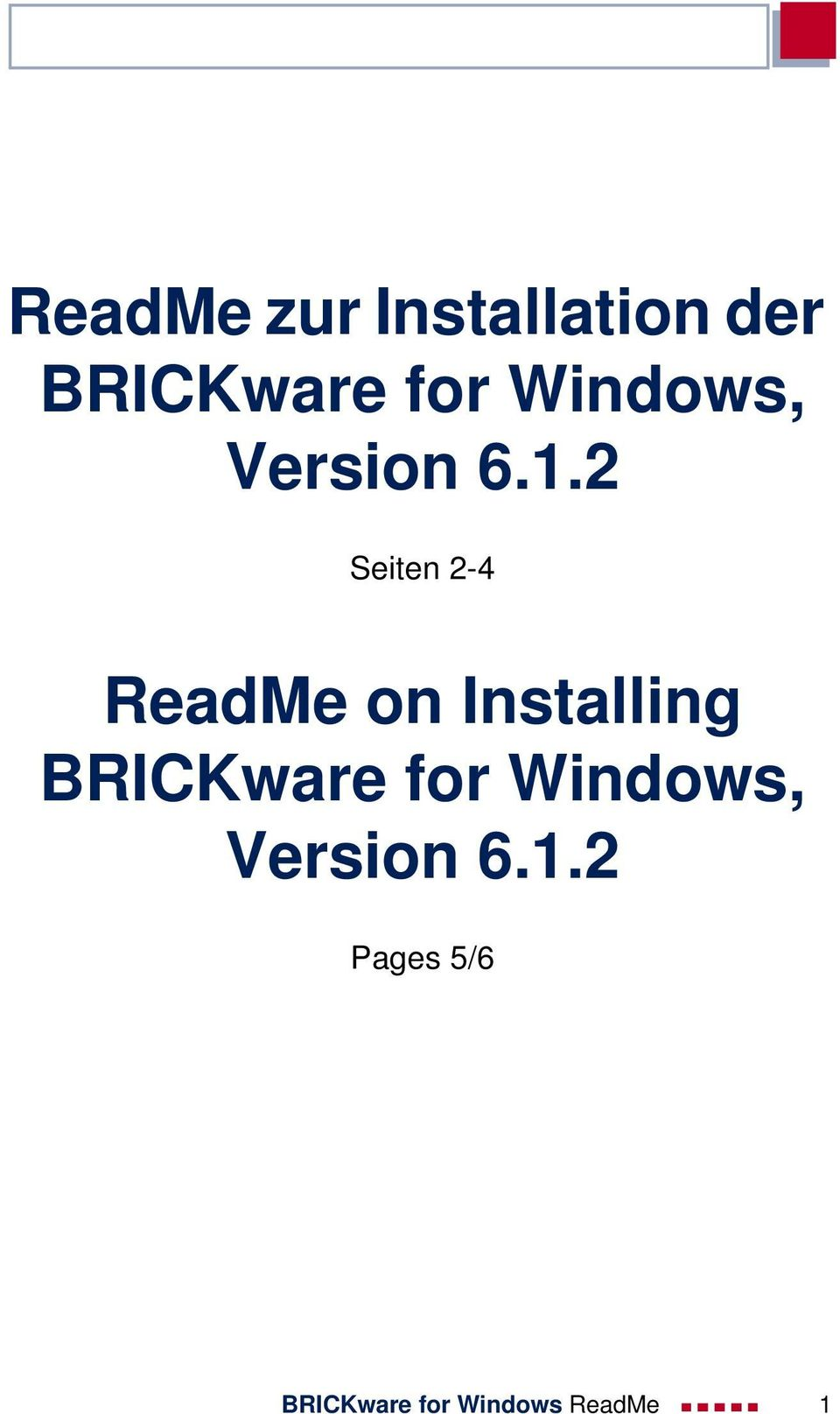 2 Seiten 2-4 ReadMe on Installing BRICKware
