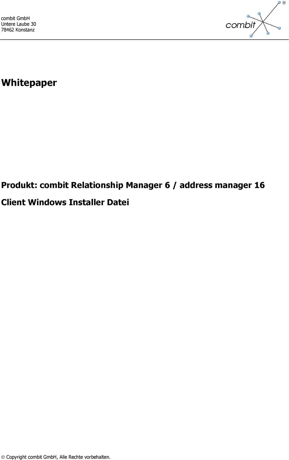 Relationship Manager 6 / address