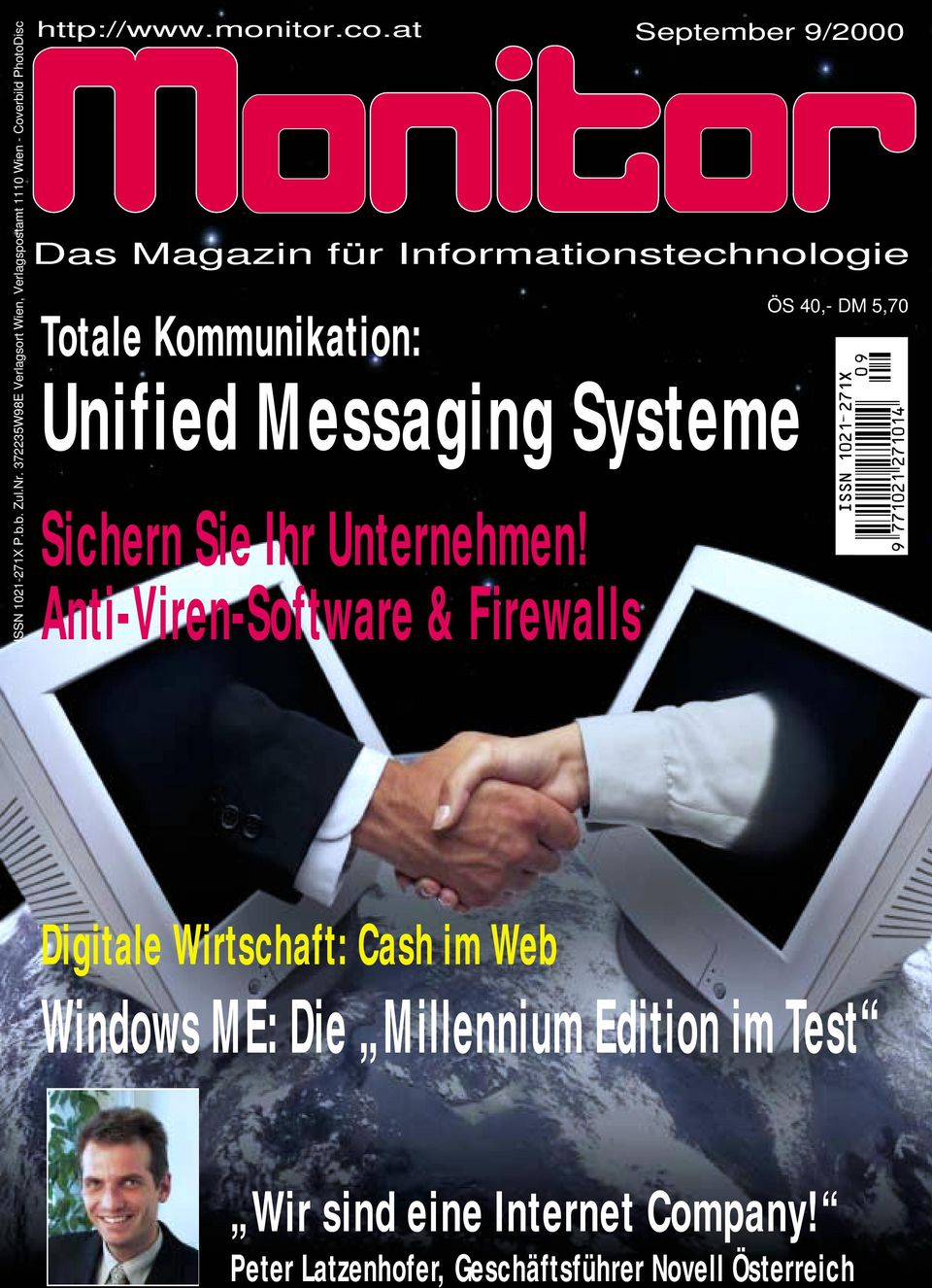 at September 9/2000 Das Magazin für Informationstechnologie Totale Kommunikation: Unified Messaging Systeme Sichern