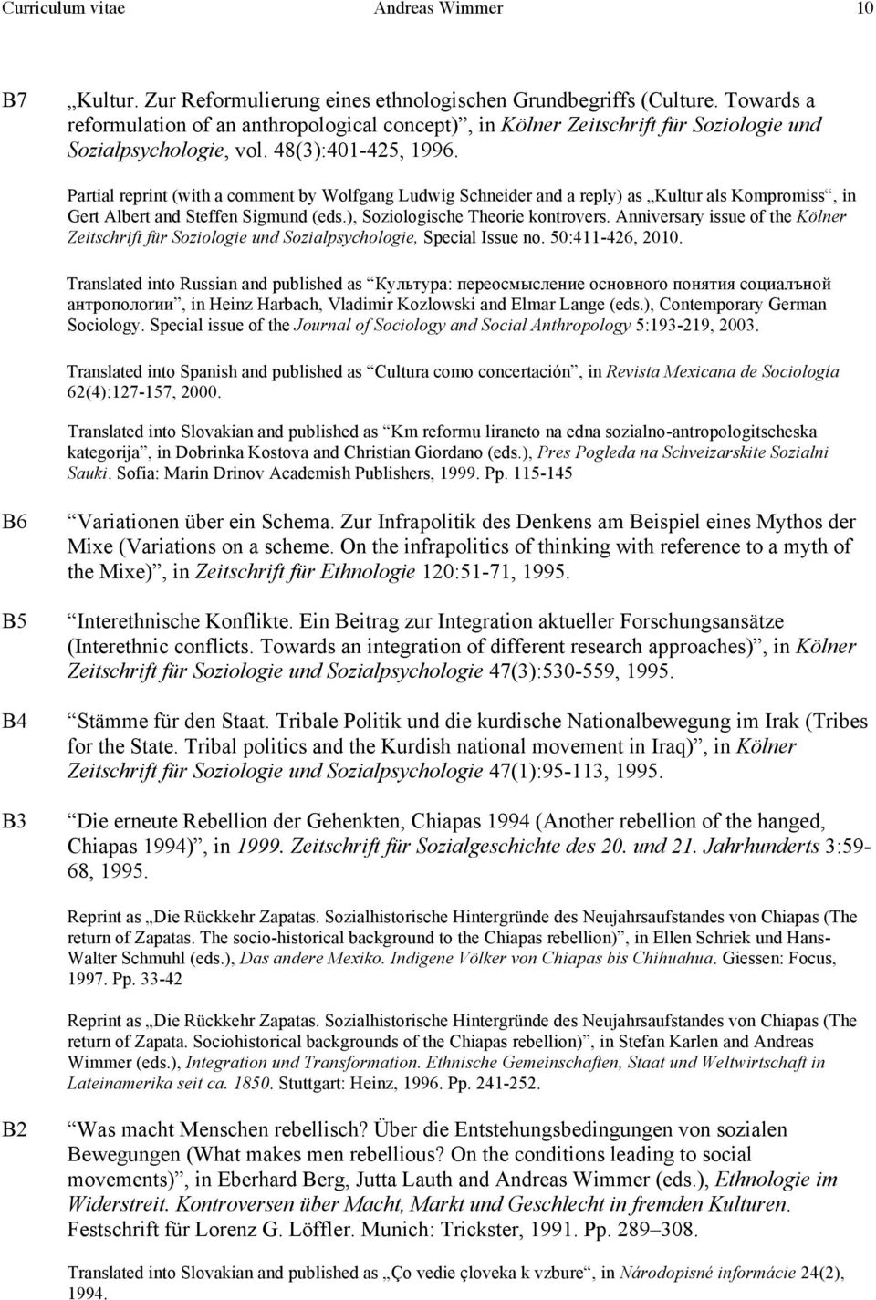 Partial reprint (with a comment by Wolfgang Ludwig Schneider and a reply) as Kultur als Kompromiss, in Gert Albert and Steffen Sigmund (eds.), Soziologische Theorie kontrovers.