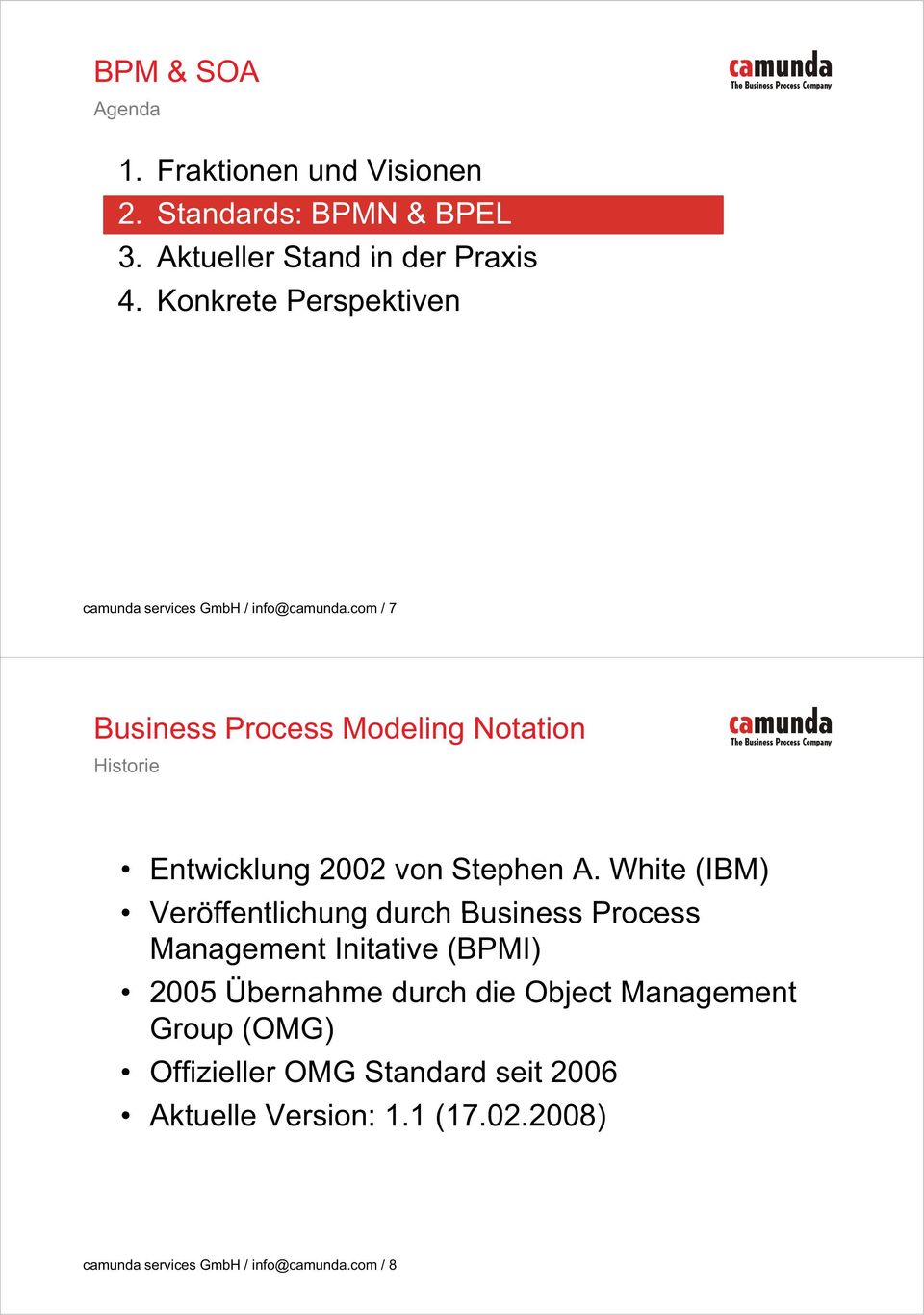 com / 7 Business Process Modeling Notation Historie Entwicklung 2002 von Stephen A.